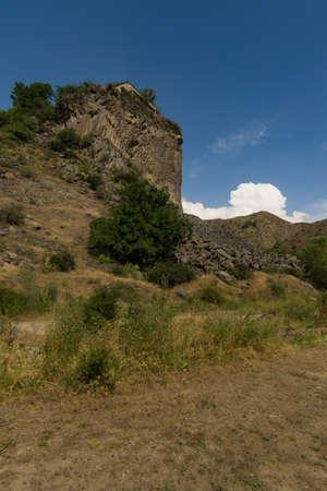 View of mountains landscape in Garni, Armenia, selective focus. Standard-Bild - 112395186