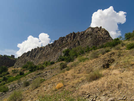 View of mountains landscape in Garni, Armenia, selective focus. Standard-Bild - 112395187