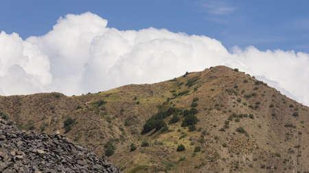 View of mountains landscape in Garni, Armenia, selective focus. Standard-Bild - 112395049