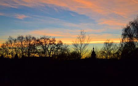 mecklenburg western pomerania: sunset