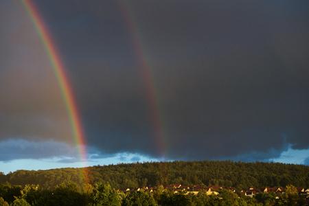 atmospheric phenomena: Double rainbow