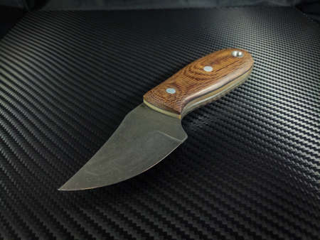 Custom hand forged knife with jeans micarta handles