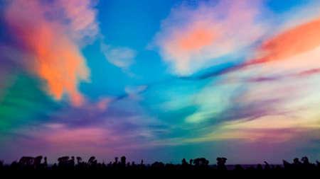 Colorful vivid sky polarized and dehazed