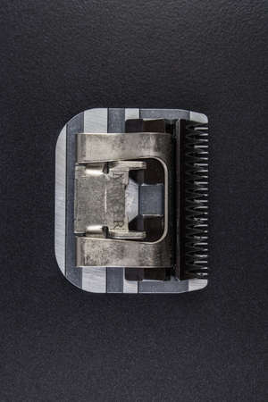 Moving part of a trimmer blade block 스톡 콘텐츠