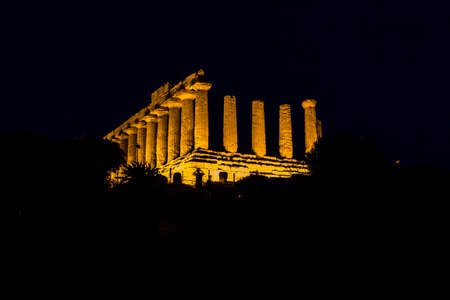 valley of the temples: Temple of Juno by night, Agrigento