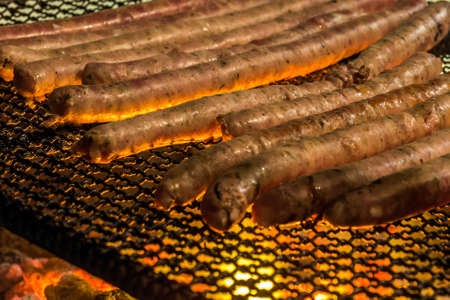 bacon night: barbecue Stock Photo