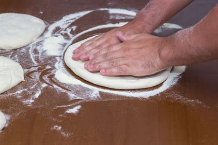roll out: roll out pizza Stock Photo