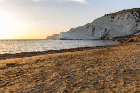 dei: Scala dei Turchi at Sunset Stock Photo