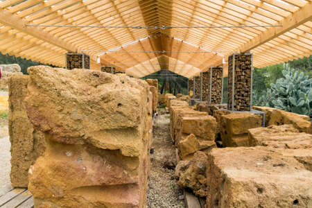 agrigento: Archaeological excavations of the Temple of Demetra, Agrigento Stock Photo