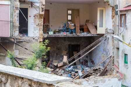 derrumbe: Colapso Casa en el casco antiguo de Agrigento