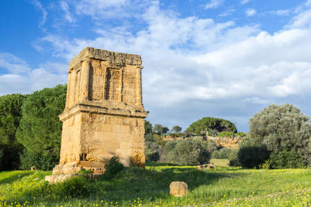 valley of the temples: Tomb of Theron Theron. Valley of Temples Agrigento Stock Photo