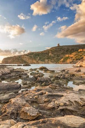 agrigento: Beach of Le Pergole in Sicily, near Agrigento Stock Photo