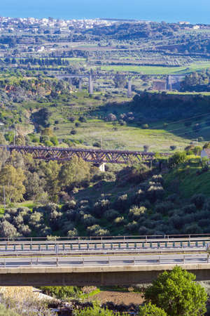 Three bridges over the Valley of the Temples, Agrigento