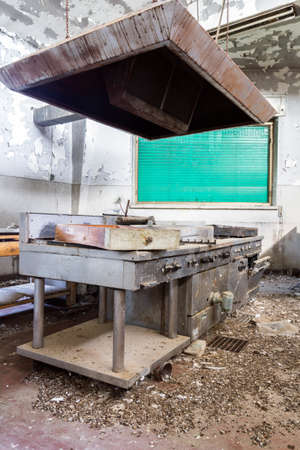 Abandoned industrial kitchen. Very very dirty