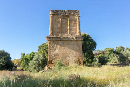 agrigento: TTomb Theron Theron Valley of Temples of Agrigento Stock Photo