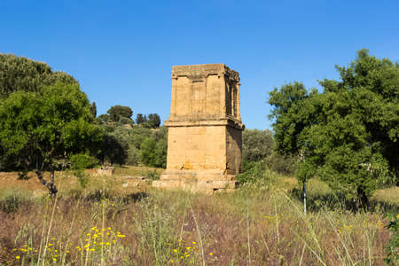 valley of the temples: Tomb of Theron Theron Valley of Temples Agrigento
