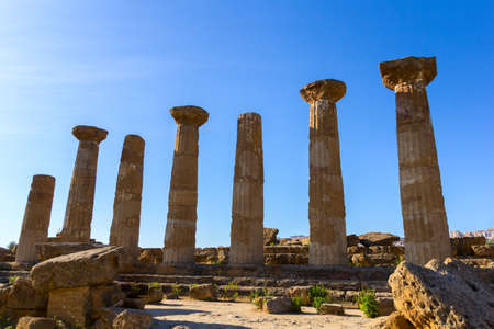 Temple of Hercules or Heracles. Valley of Temples Agrigento Imagens - 39762021