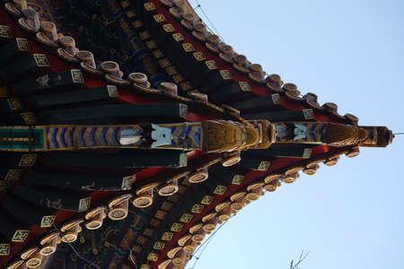 Beijing Lama Temple eaves