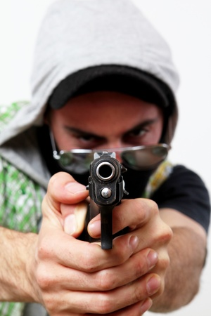 dangerous component armed with a street gang Stock Photo - 9485545