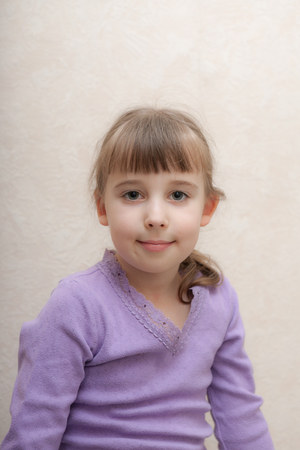 portrait of a little girl at home