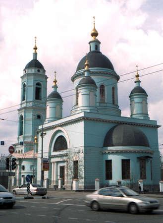 Church Saint Sergija Radonezhskogo In Rogozhskoj to a large village. Russia. Moscow