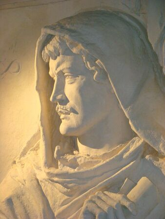 monument of Giordano Bruno the Italian philosopher and the poet the supporter of the heliocentric theory of a structure of the world of Kopernik Stock Photo