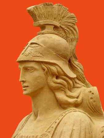 Athéna, dans la mythologie grecque, la déesse de la guerre juste et la sagesse, l'une des déesses les plus estimés de la Grèce antique. Banque d'images - 4972277