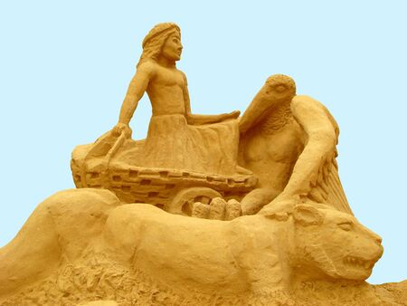 civilisation: The meeting with a civilisation is called this sculpture from sand