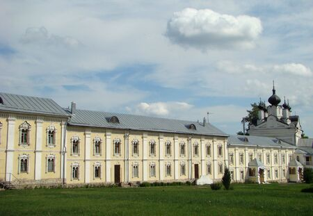 enters: Monastic cells and Temple of All grieving pleasure. Enters into an architectural ensemble of Nikolo of the Ugreshsky monastery.                                Stock Photo