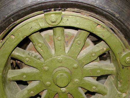 armored car: Armored car wheel. Close up