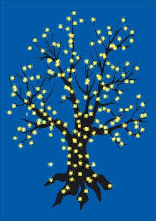 crone: The tree decorated with daisies of fires