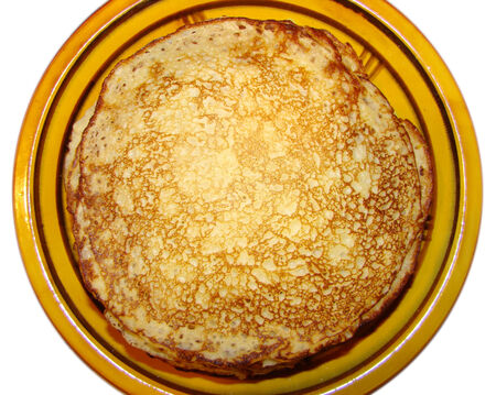 only fresh cooked pancakes milk test Stock Photo