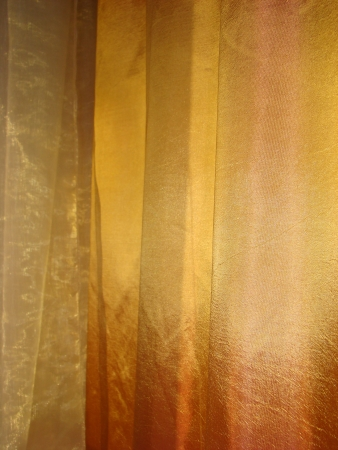 Shade from a synthetic fabric with soft folds, drapery  texture Stock Photo