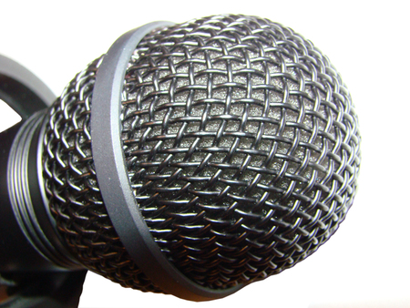 microphone - electroacoustic instrument sound vibrations into electrical current Stock Photo - 25469102
