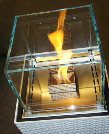 gas fireplace: Bio Fireplace glass and metal with fire