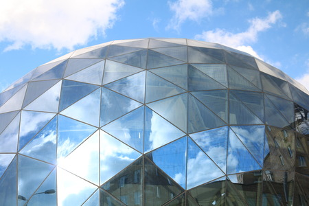 control center: Dome of the glass building. Tunnel Control Center complex