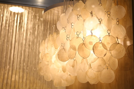 light chains: lamps made of mother of pearl