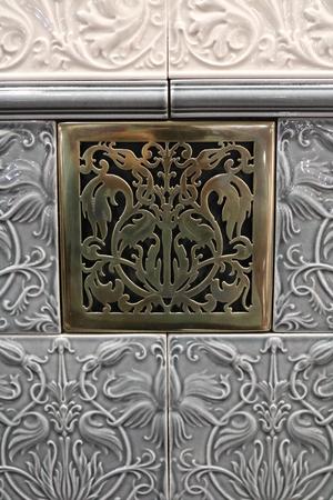 tile cladding: patterned ceramic glazed tiles