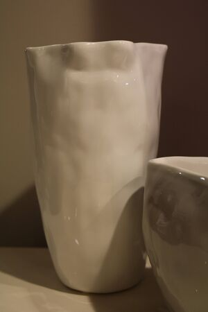 The vase on the table in the interior