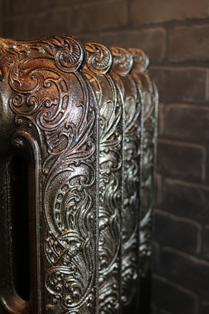 Cast iron radiators, reproduced from originals of past centuries Banco de Imagens