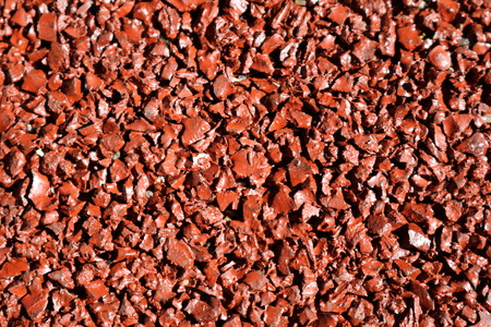 Tartar coating of childrens and childrens licenses on the basis of rubber crumbs Stock Photo