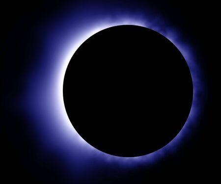 Glowing blue eclipse photo