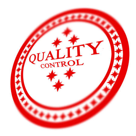 regulated: Red quality control stamp on white background Stock Photo