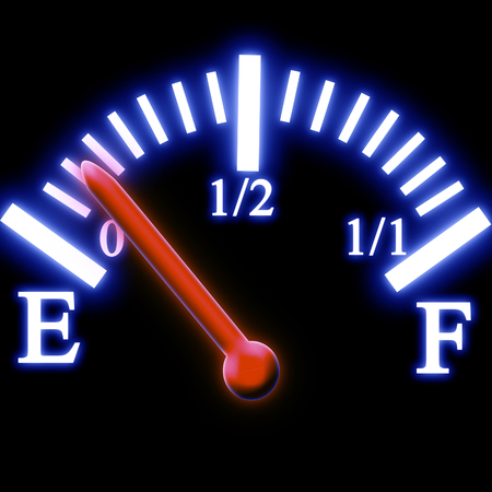 exceed: Almost empty fuel tank meter