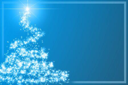 Абстрактные Рождественская елка на синем фоне