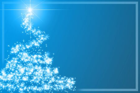 Abstract christmas tree on blue background Stock Photo - 1726905