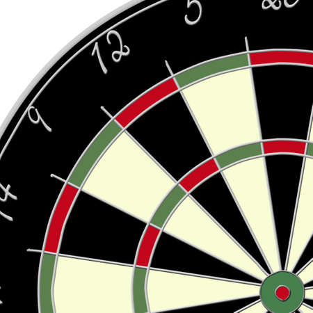 closer: Closer view of the center of a dartboard