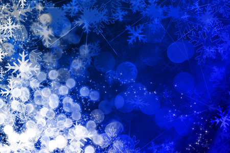 Christmas illustration with snowflakes and sparkles Stock Illustration - 1727095