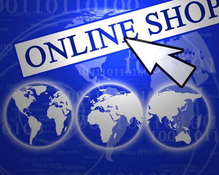 The possibilities of online commerce Фото со стока