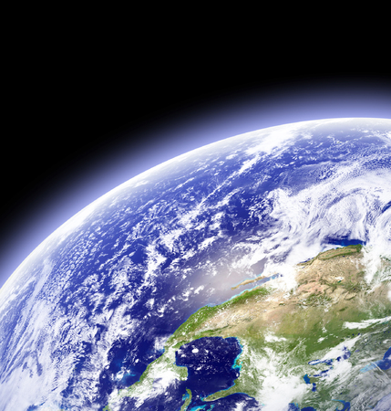 Earth as seen from outer space photo